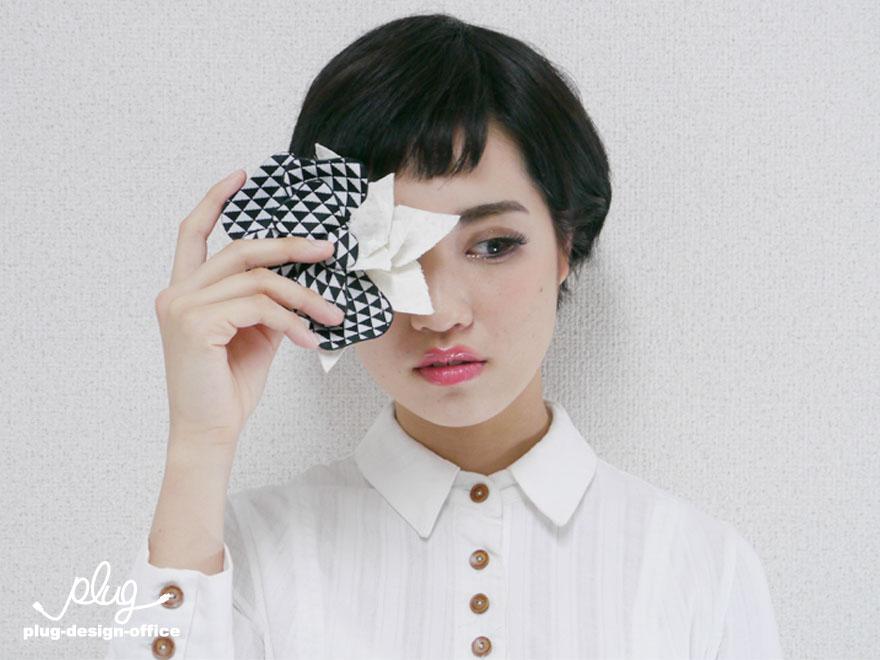 白と黒 三角と四角 トキドキ水玉